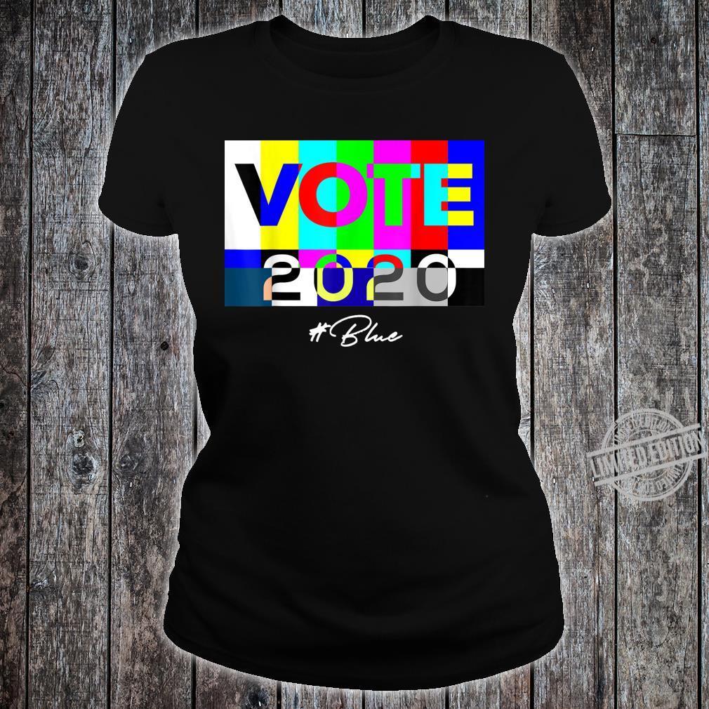 Vote 2020 Blue Shirt ladies tee
