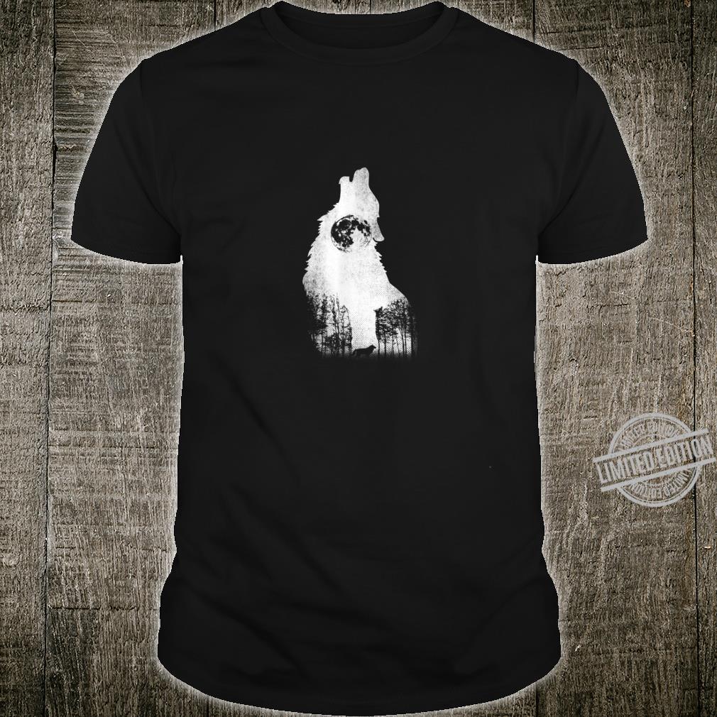 Wolfgeheul Wolf in der Nacht Geschenk Shirt