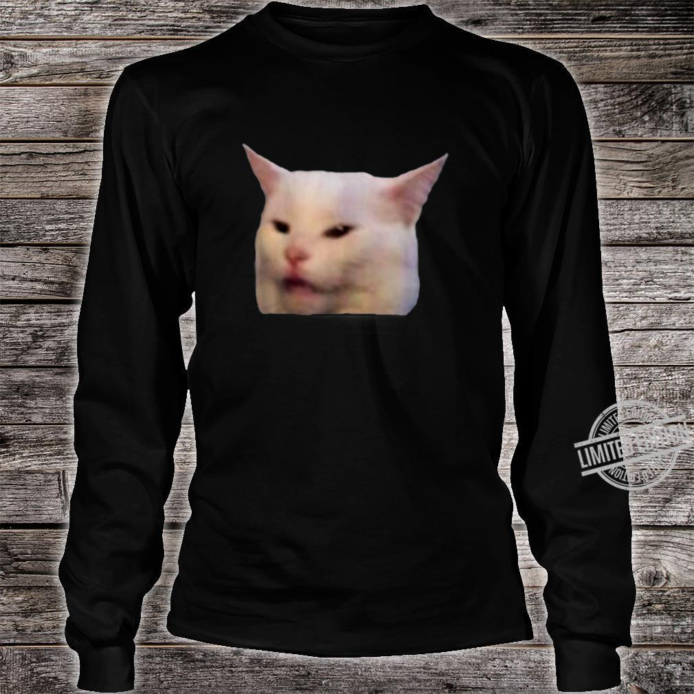 Woman Yelling At Smudge Cat Meme Shirt long sleeved