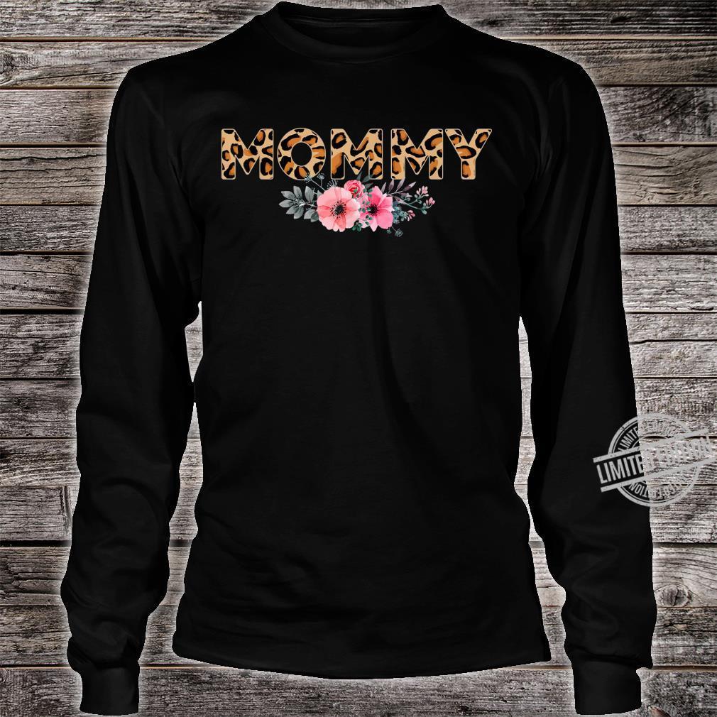 Women Apparel Mommy Leopard Floral Print Animal Trendy Shirt long sleeved