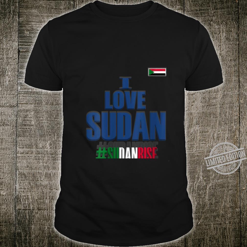 Womens I Love Sudan With Sudanese Flag In My Heart,Sudan Shirt