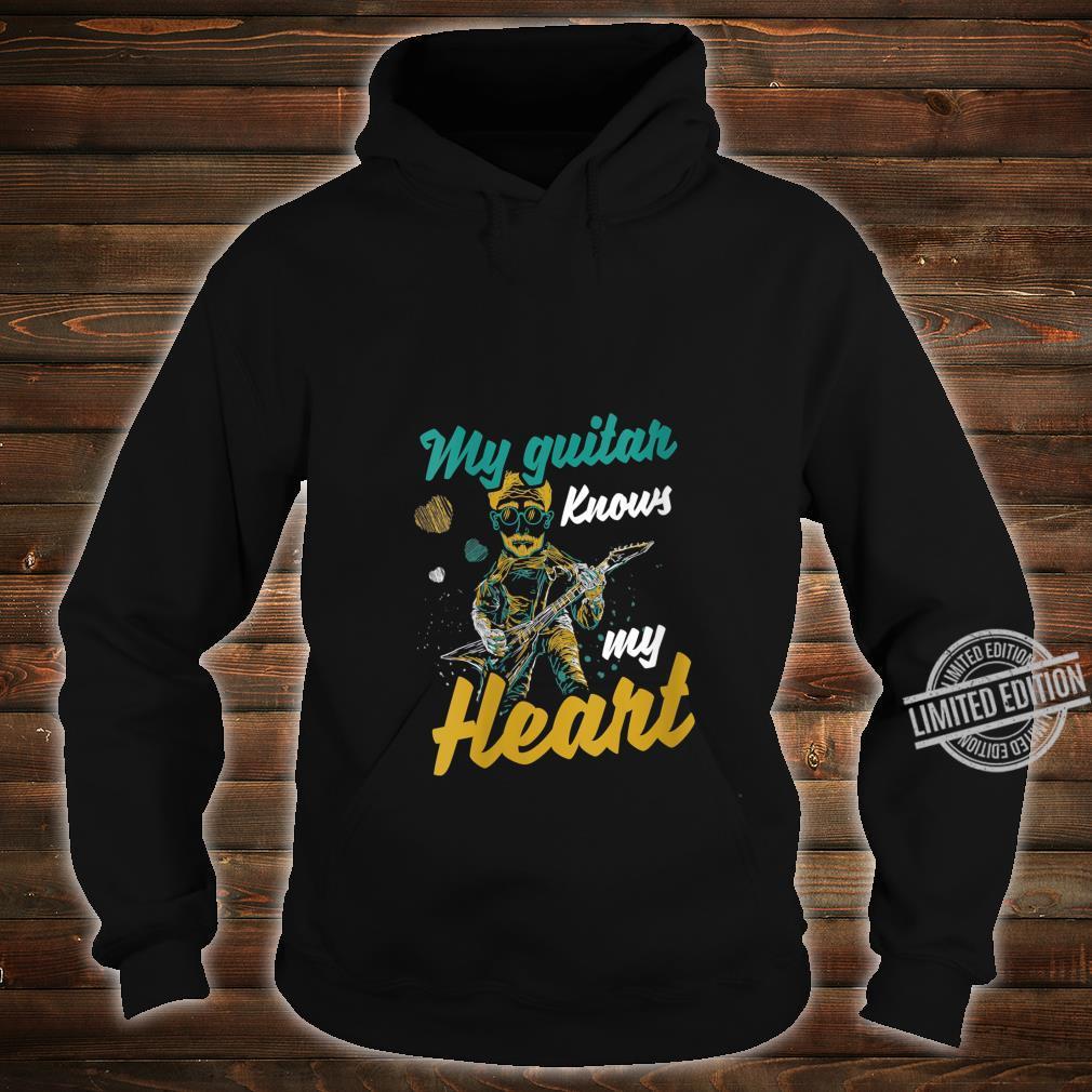 Womens My Guitar Knows My Heart Musics Guitarist Band Shirt hoodie