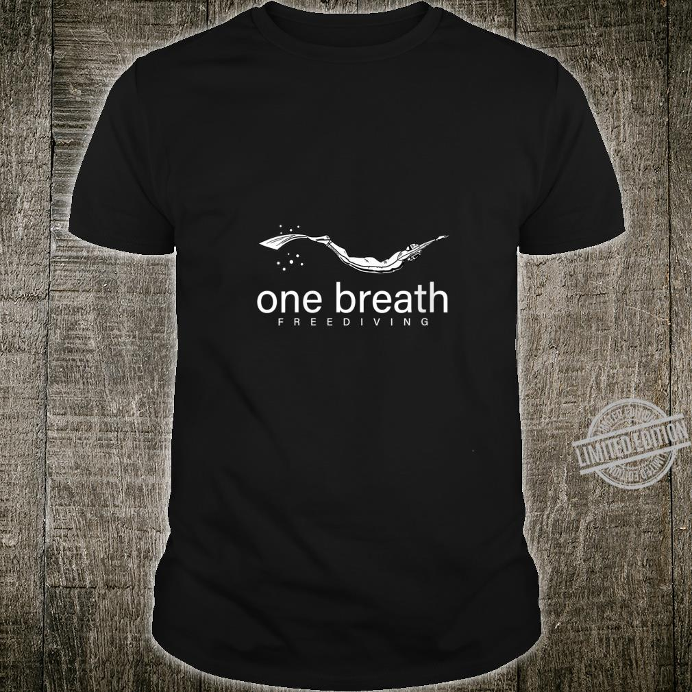 Womens One Breath Free Diving Cool Scuba Underwater Diver Shirt