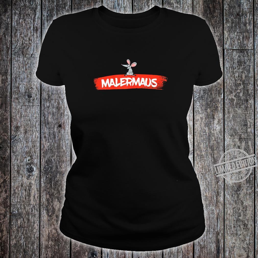 Women's Paintermaus Shirt with Painter Design Shirt ladies tee