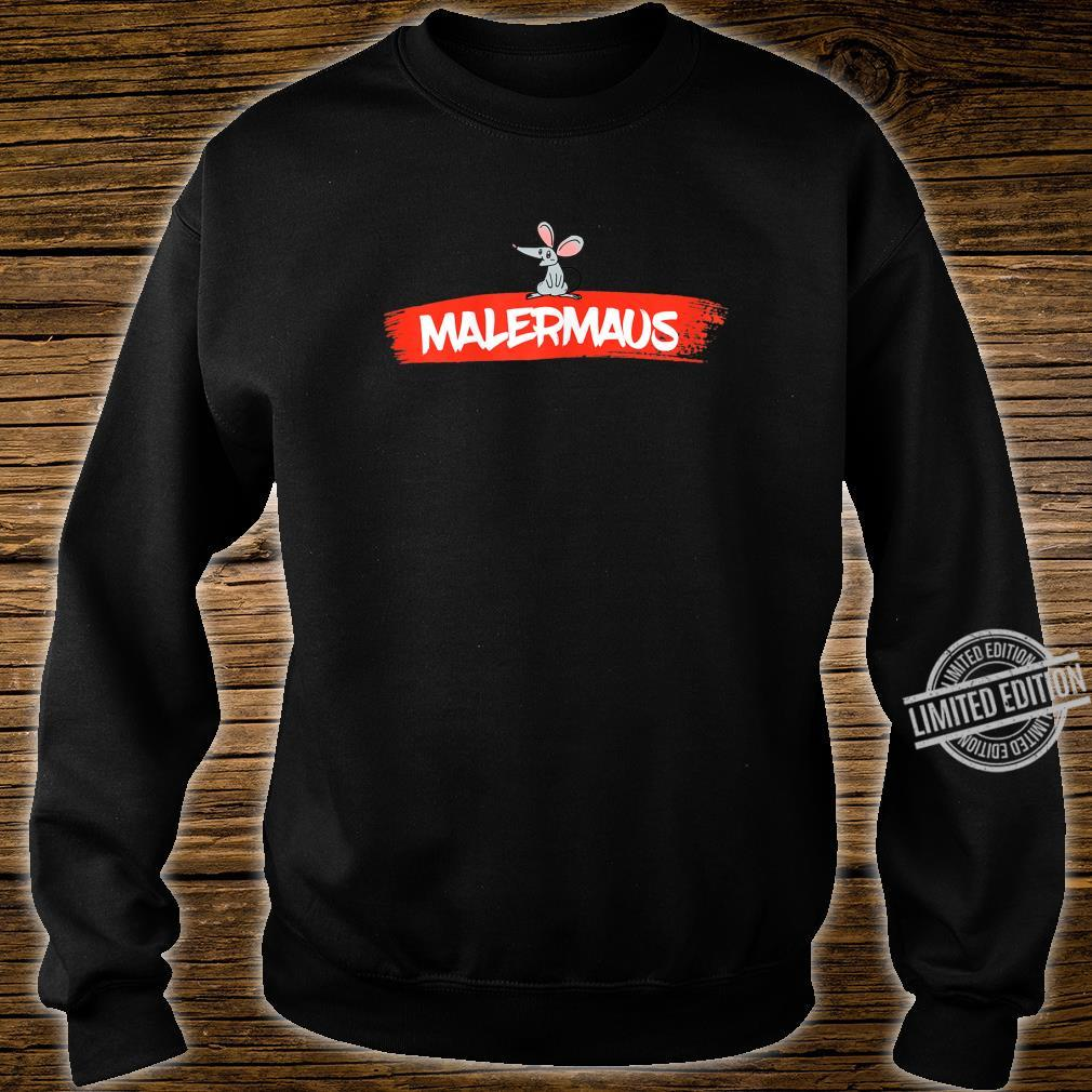 Women's Paintermaus Shirt with Painter Design Shirt sweater