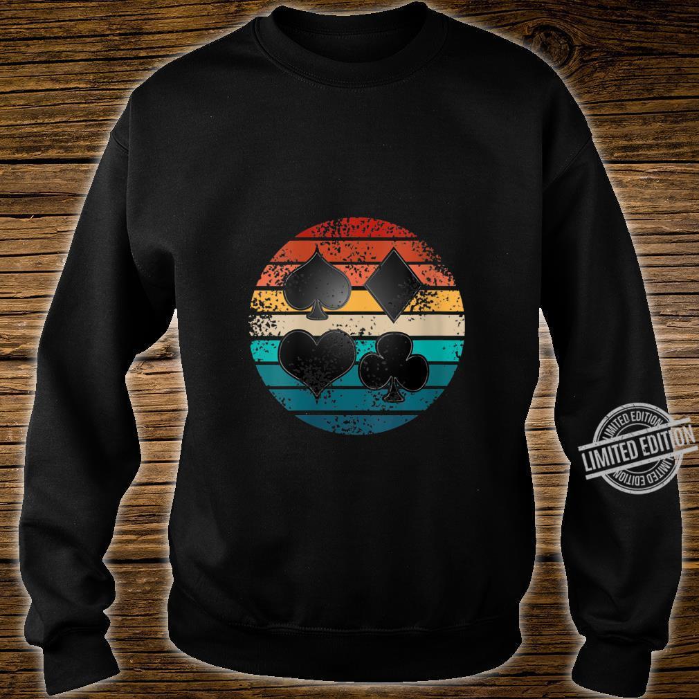 Womens Poker Card Suit Circle Retro Hobby Symbol Poker Player Shirt sweater
