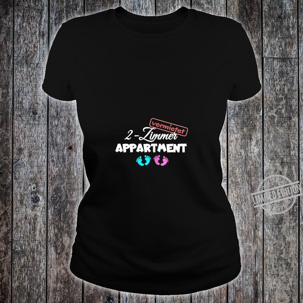 Women's Pregnancy Shirt with Twins Shirt ladies tee