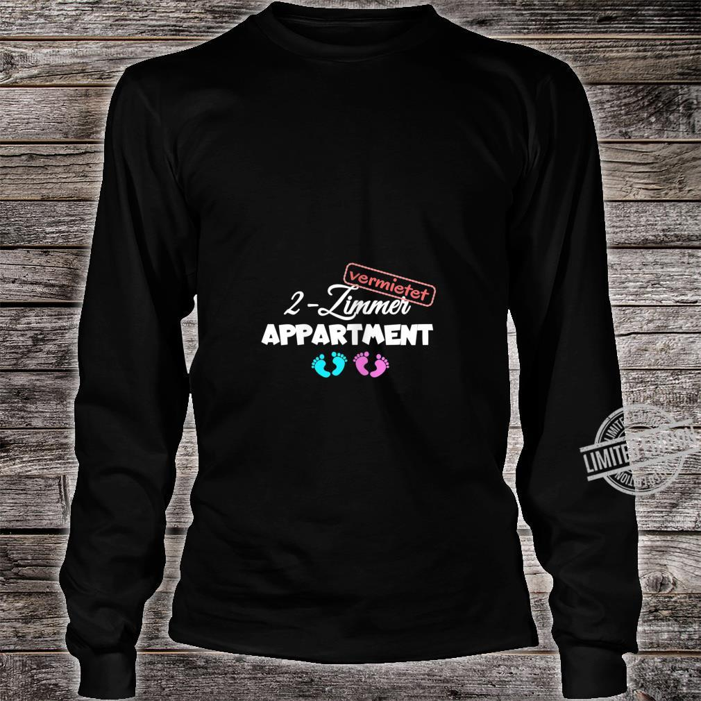 Women's Pregnancy Shirt with Twins Shirt long sleeved