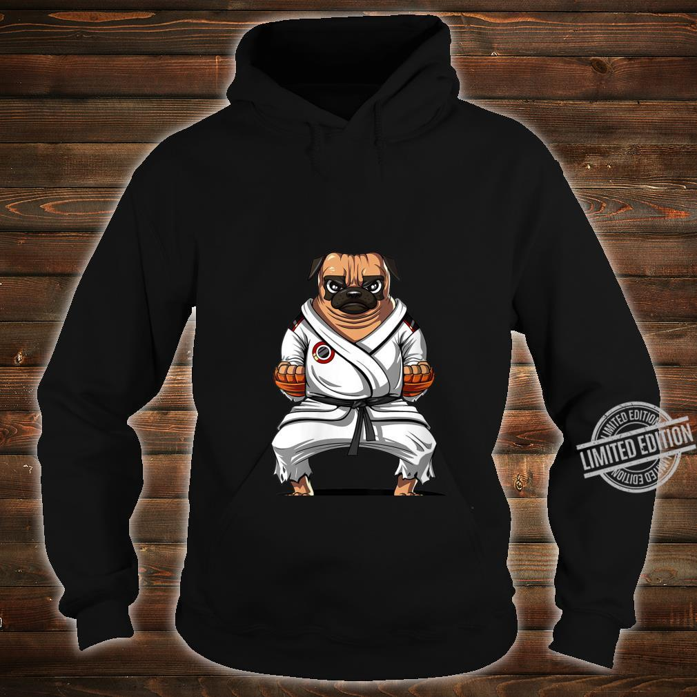 Womens Pug Dog Karate Ninja Martial Arts Kickboxing Jiu Jitsu Boys Shirt hoodie