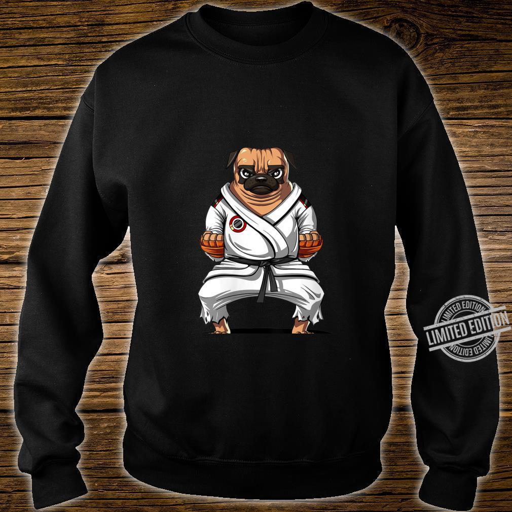 Womens Pug Dog Karate Ninja Martial Arts Kickboxing Jiu Jitsu Boys Shirt sweater